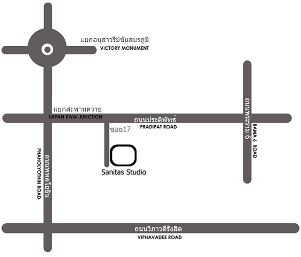 Map to Sanitas Studio